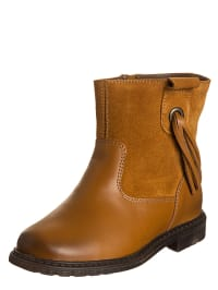 Billowy Leder-Stiefeletten in Camel