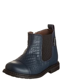 Billowy Leder-Boots in Dunkelblau