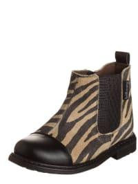 Billowy Leder-Boots in Schwarz/ Sand