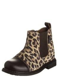Billowy Leder-Boots in Braun/ Sand
