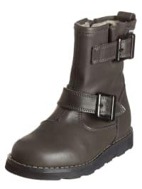 Garvalin Leder-Boots in Anthrazit