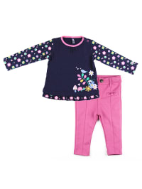 """What´s up Kids 2tlg. Outfit """"Woodland Milano"""" in Dunkelblau/ Rosa"""