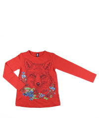 """What´s up Kids Longsleeve """"Cosy and Warm"""" in Rot/ Bunt"""