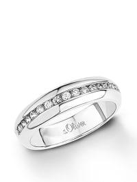 S. Oliver Silber-Ring mit Zirkonias