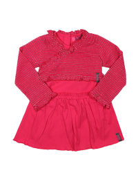 ZieZoo 2tlg. Outfit in Fuchsia/ Silber