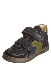 "Primigi Leder-Sneakers ""Blare"" in Dunkelblau/ Grün"