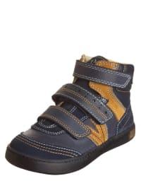 "Primigi Leder-Sneakers ""Lowell"" in Dunkelblau/ Beige"