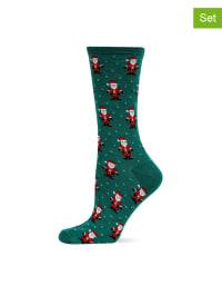 Hot Sox 2er-Set: Socken in Grün/ Grau/ Rot