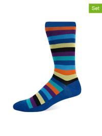 Hot Sox 2er-Set: Socken in Dunkelblau/ Schwarz/ Bunt