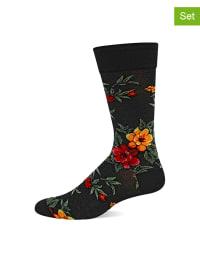 Hot Sox 2er-Set: Socken in Schwarz/ Dunkelblau/ Bunt