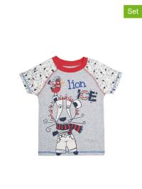 Petit Beguin 2er-Set: Shirts in Grau/ Bunt
