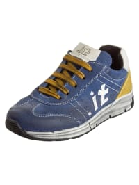 Www.it Leder-Sneakers in Blaugrau