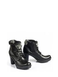 Zapato Leder-Stiefel in Schwarz - 47% 87gXmDG3C