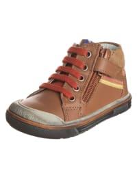 Aster Leder-Sneakers in Hellbraun