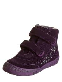 Richter Shoes Leder-Sneakers in Aubergine/ Lila