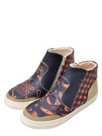 """Dogo Boots """"Chop your own wood"""" in Schwarz/ Beige/ Orange"""