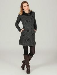 Aller Simplement Kleid in Schwarz/ Grau