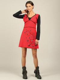 Aller Simplement Kleid in Schwarz/ Rot/ Bunt