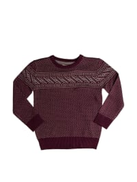 E-Bound Pullover in Weinrot