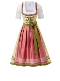 "HOLY COUTURE by Stockerpoint Midi-Dirndl ""Giselle"" in Gelb/ Lachs"