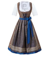 "HOLY COUTURE by Stockerpoint Midi-Dirndl ""Adriane"" in Braun/ Dunkelblau"