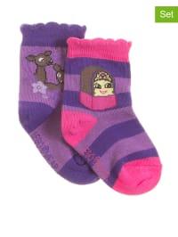 "Legowear 2er-Set: Socken ""Amber 601"" in Lila/ Pink"