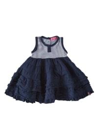 ZieZoo Kleid in Dunkelblau/ Hellblau