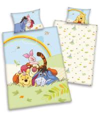 """Herding Renforcé-Bettwäsche-Set """"Winnie Pooh"""" in Hellblau/ Bunt"""