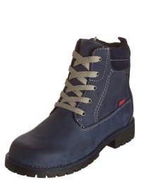 Gabor Kids Leder-Boots in Blau