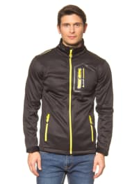 Peak Mountain Fleecejacke in Schwarz/ Gelb