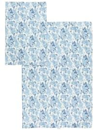 Tavo Bettwäsche-Set in Blau/ Weiß