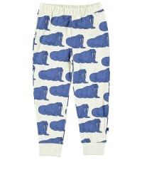 Småfolk Leggings in Blau/ Weiß