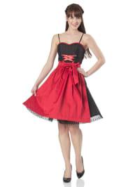 """Turi Landhaus Mini-Kleid """"Luana"""" in schwarz/ rot"""