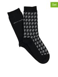 "Pierre Cardin 4er-Set: Socken ""Tatina"" in Schwarz/ Grau"