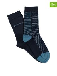 "Pierre Cardin 4er-Set: Socken ""Valerie"" in Dunkelblau/ Blau"