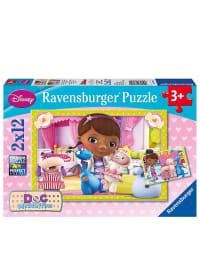 """Ravensburger 2x12tlg. Puzzle """"Kleine Spielzeugärztin"""" - ab 3 Jahren"""