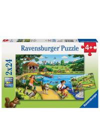 """Ravensburger 2x24tlg. Puzzle """"Freizeitspaß im Park"""" - ab 4 Jahren"""