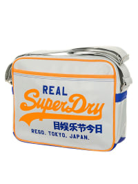 Superdry Umhängetasche in Weiß/ Orange/ Blau - (B)38 x (H)29 x (T)9 cm