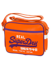Superdry Umhängetasche in Orange/ Lila/ Weiß - (B)38 x (H)29 x (T)9 cm