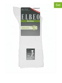 """Elbeo 2er-Set: Socken """"Bamboo Sensitive"""" in Weiß"""