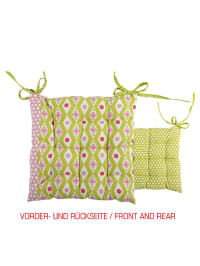 """Overbeck and Friends Stuhlkissen """"Theresa"""" in Grün/ Rosa - (B)40 x (L)40 cm"""
