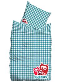 """Suenos bedclothes Linon-Bettwäsche-Set """"Giant"""" in Mint/ Weiß"""