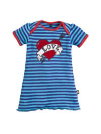 Sovereign Sleepwear Strickkleid mit Love-Print in blau/ lila
