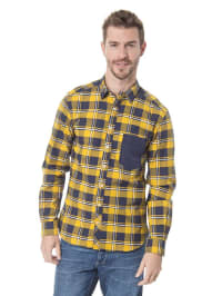 "Jack & Jones Kariertes Hemd ""Neil"" in gelb/ blau"