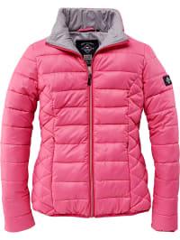 Winterjacke damen schwarz pink