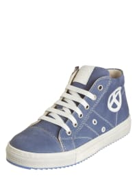 EXK Leder-Sneakers in Hellblau - 64%