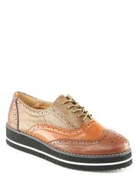 Chaussures En Dentelle Diesel Marron / Jaune dce1C