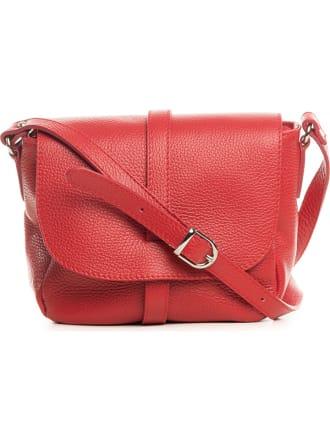 87afeede9c977 Skórzana torebka w kolorze czerwonym - 24 x 20 x 9 cm