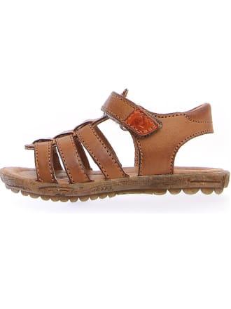 2d7eb48f8e2f8 Skórzane sandały w kolorze jasnobrązowym