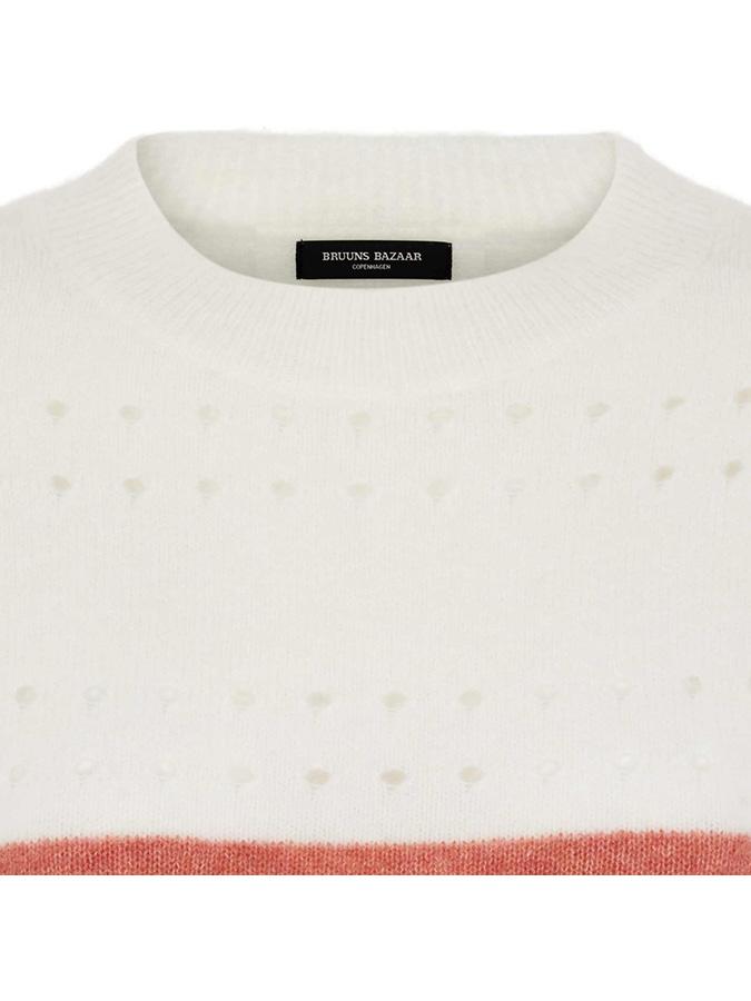 Bruuns Bazaar Bruuns Bazaar Pullover  in weiß_orange_rot günstig kaufen